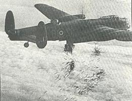 A Lancaster dropping incendiaries